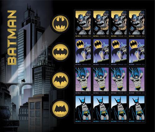 US Postal Service Forever Batman stamps