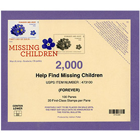 Missing Children Stamp Deck Card with DCP