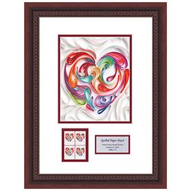 Quilled Paper Heart Framed Art