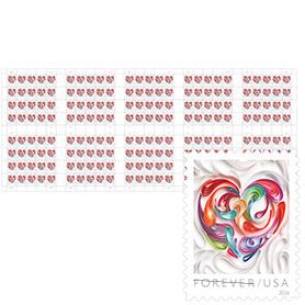 Quilled Paper Heart Press Sheet