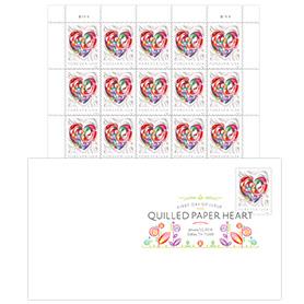 Quilled Paper Heart DCP Keepsake