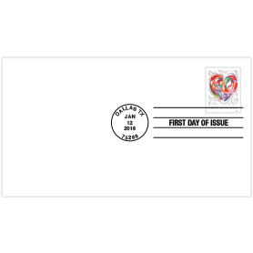 Quilled Paper Heart First Day Cover