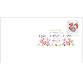 Quilled Paper Heart Digital Color Postmark