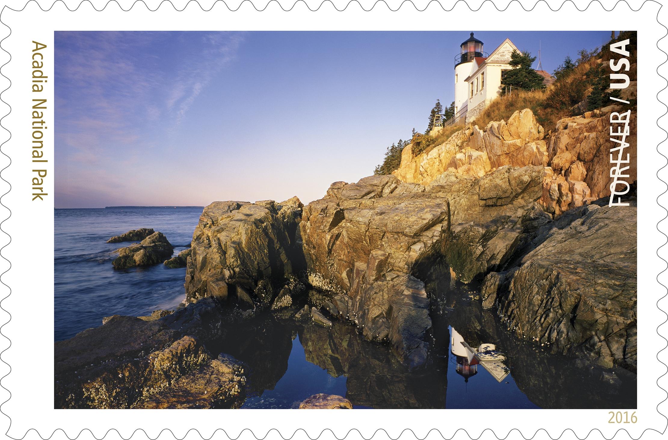 Usps Previews Acadia National Park Stamp Postalnews Com