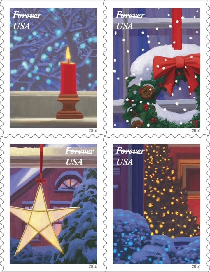 Holiday Windows forever stamp
