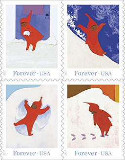 """The Snowy Day"" stamp booklet"