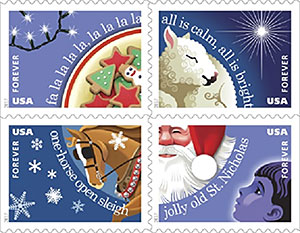 Christmas Carols stamp booklet
