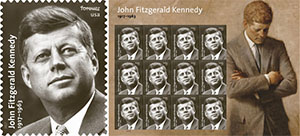 Stamp commemorating JFK's birth centennial