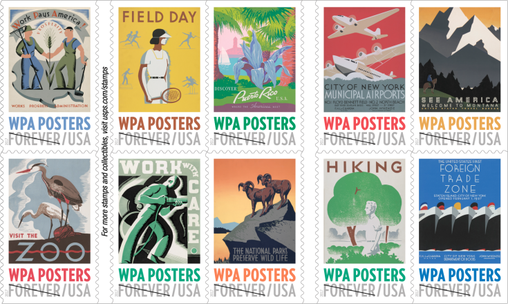 Usps Celebrates Wpa Posters On New Forever Stamp Booklet