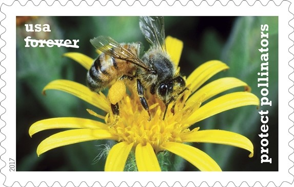 Protect Pollinators Forever stamps