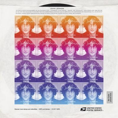 John Lennon Forever stamp, front