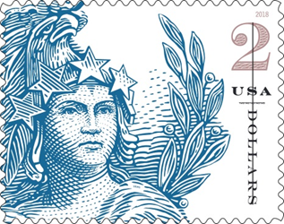 Statue of Freedom, $2 stamp