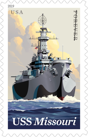"USS ""Missouri"" stamp"
