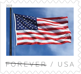 US Flag stamp