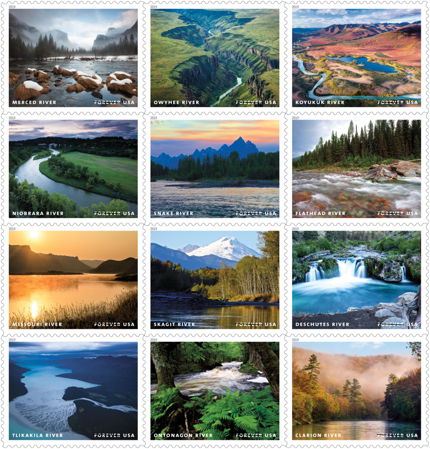 Wild and Scenic Rivers stamp