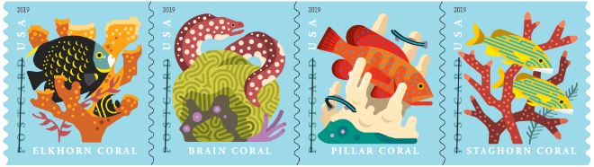 Coral Reefs stamp