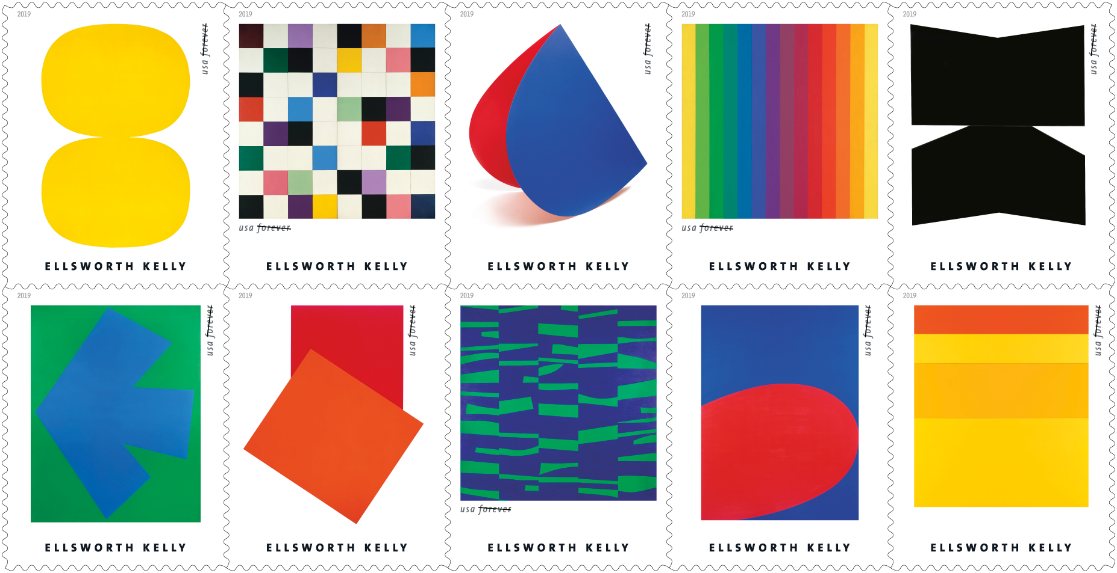 Ellsworth Kelly artworks stamps