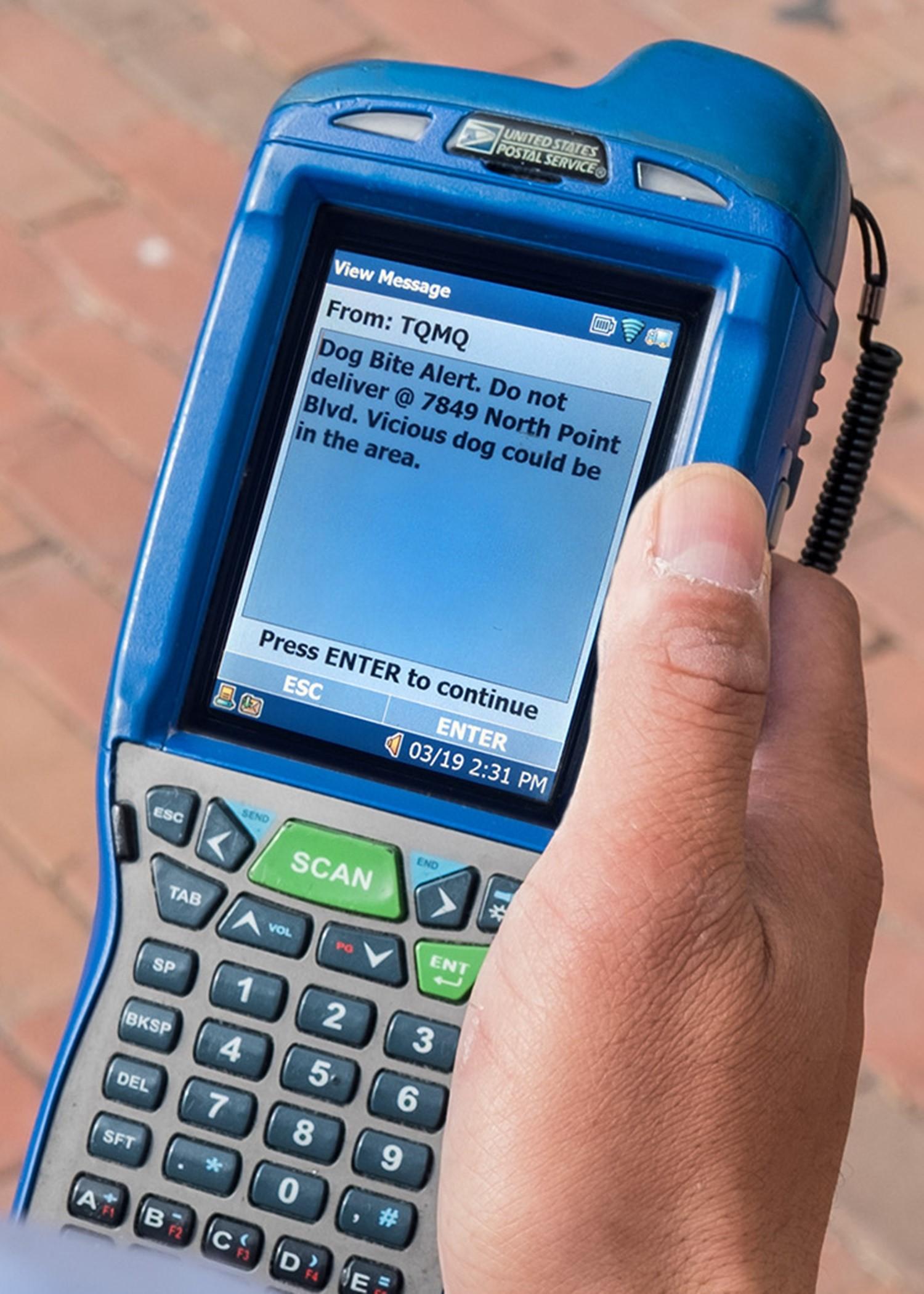 USPS handheld scanner