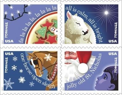 Christmas Carols Forever stamp