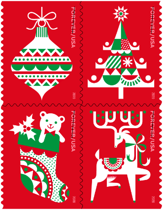 Rural Carrier Christmas Period 2020 USPS issues Holiday Delights stamp   postalnews.com