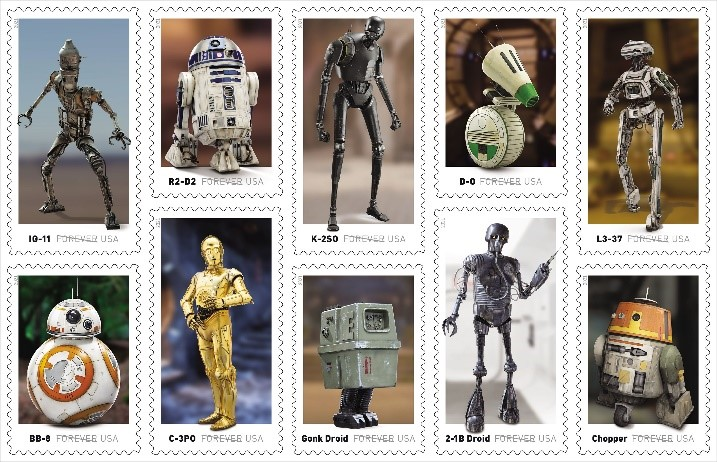 Stamps Featuring Beloved Droids
