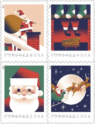 A Visit From St. Nick Forever Stamp