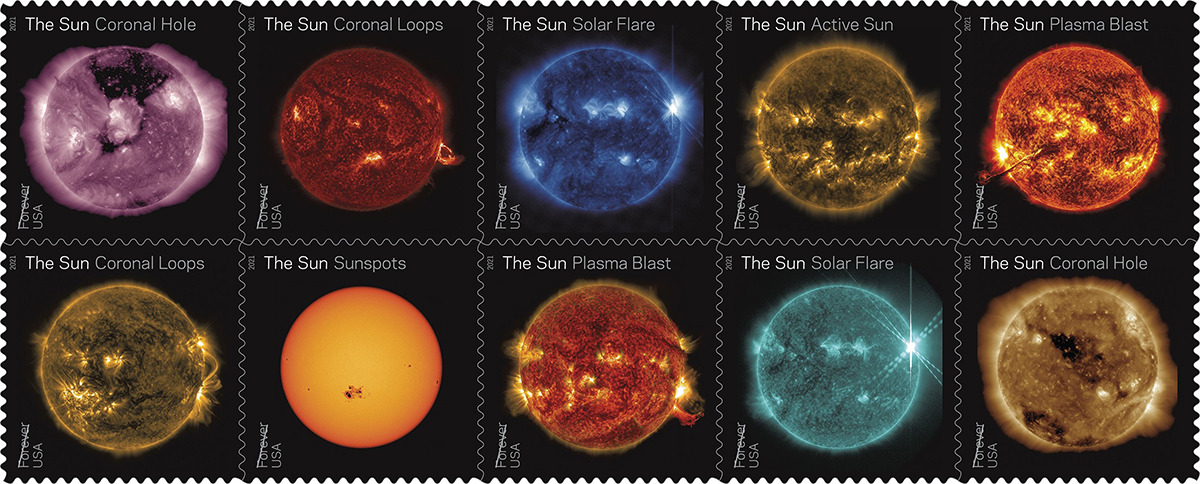 Sun Science Forever stamps